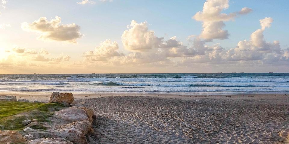 израиль, хайфа, кирьят ям, средиземное море