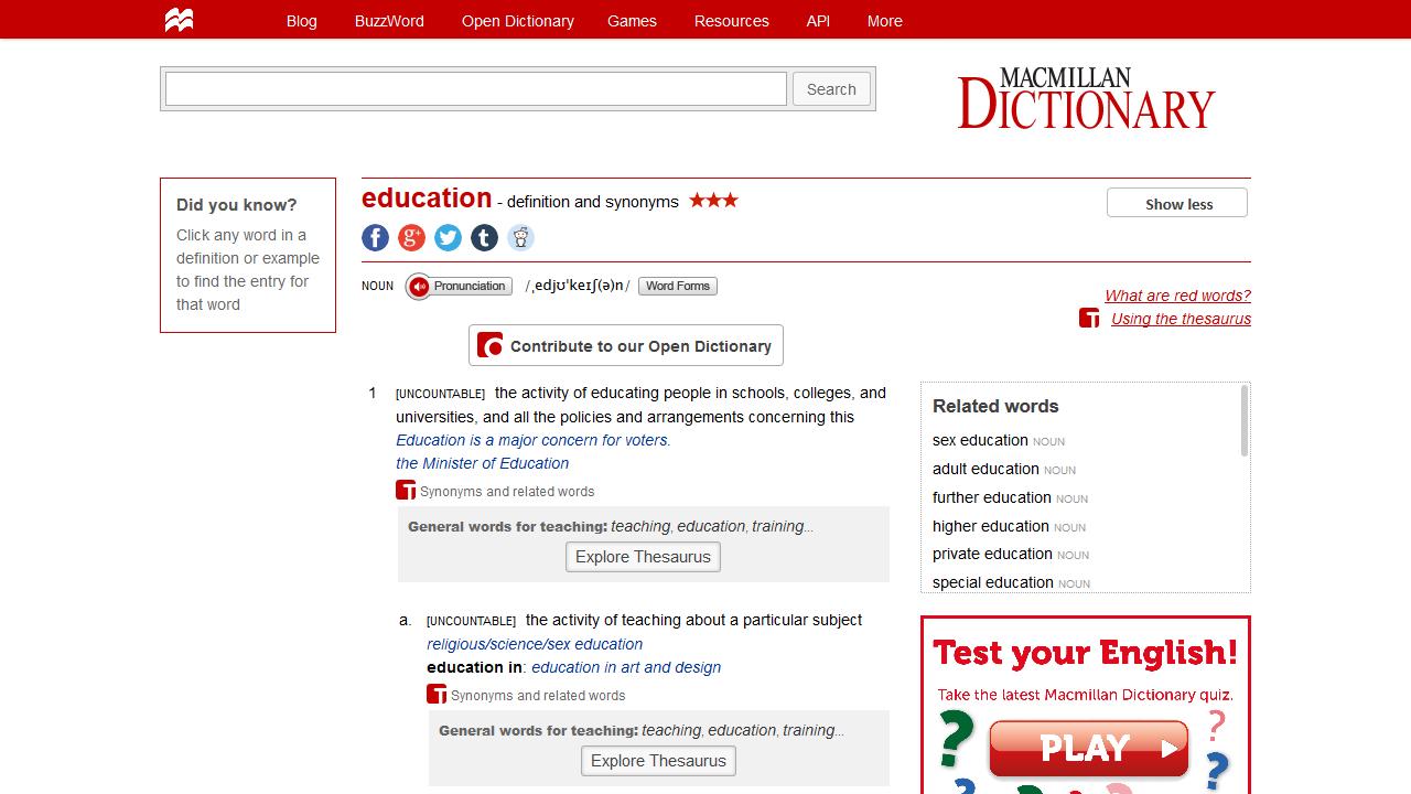 словарь, макмиллан, изучение языков