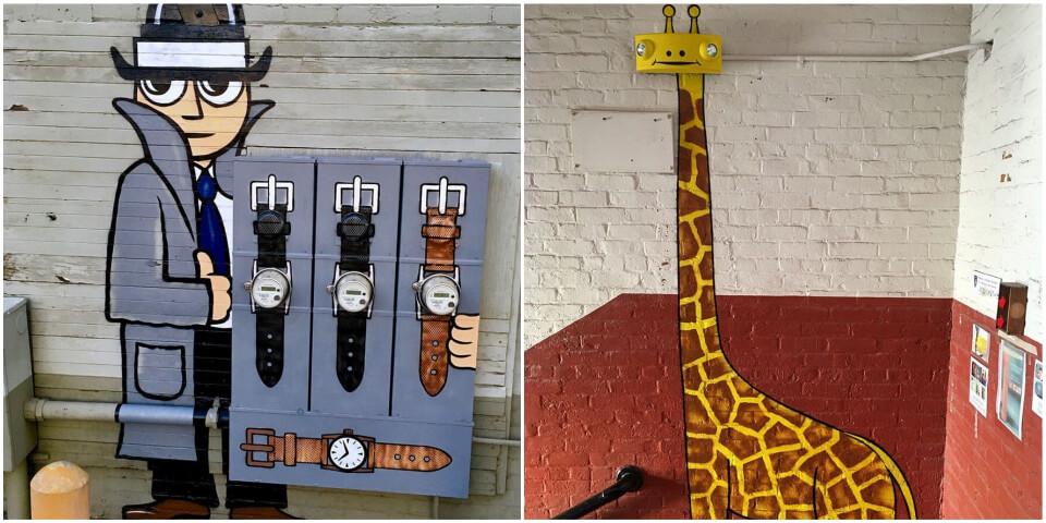 Художник рисует граффити в самых неожиданных местах (15+ фото до и после)